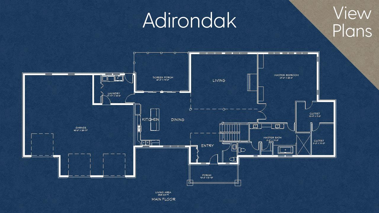 Adirondack Home Design Plan