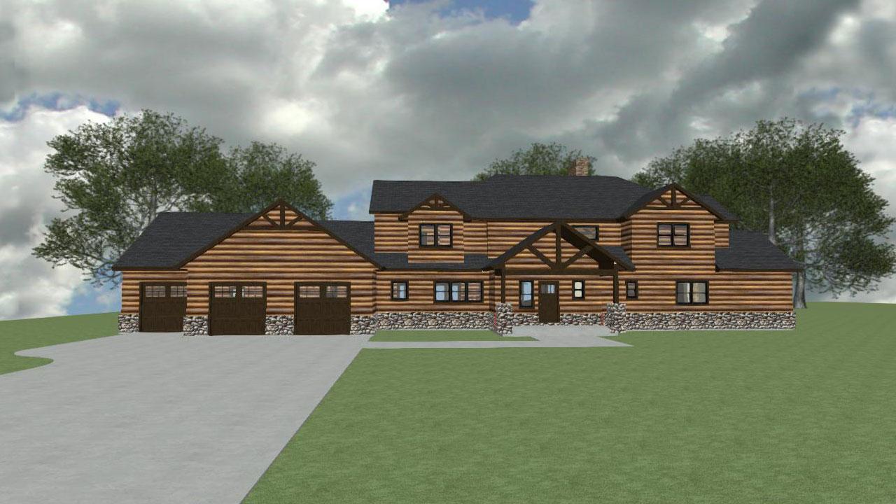 Adirondak Home Design Plan